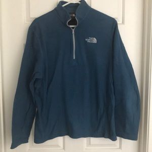 Teal The North Face pullover 1/4 zip